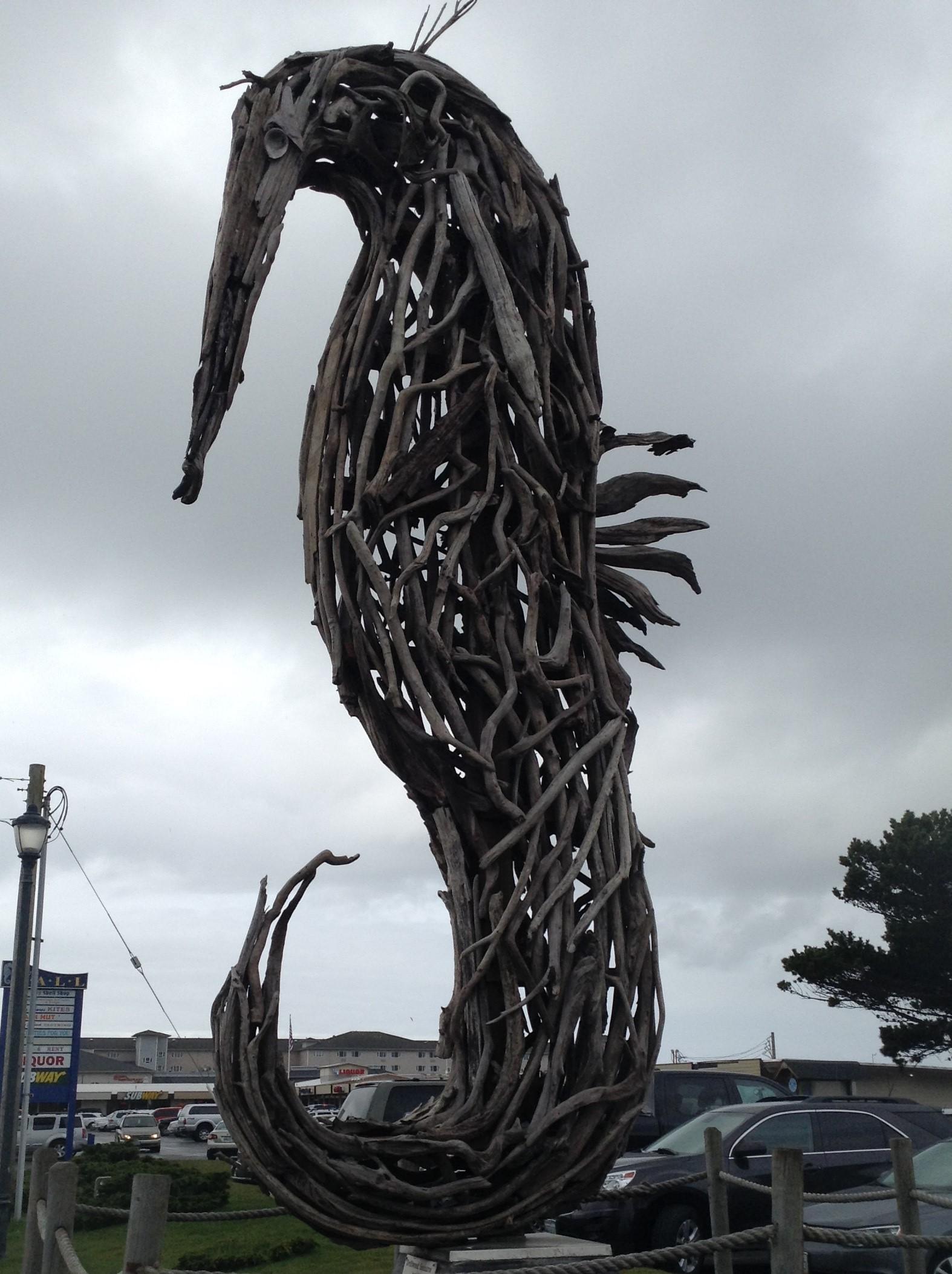 Driftwood Seahorse at Ocean Shores Convention Center, Washington #graysharborbeaches