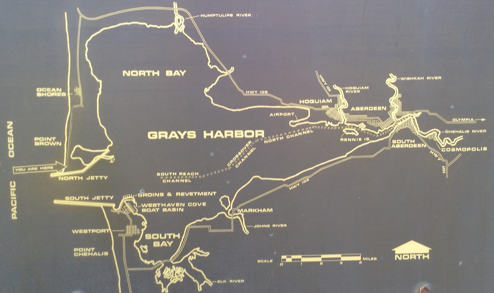 Diagram of the Mouth of Grays Harbor which separates what is called the North Beaches (Ocean Shores)and the South Beaches (Westport) #graysharborbeaches #Westportwa #oceanshoreswa